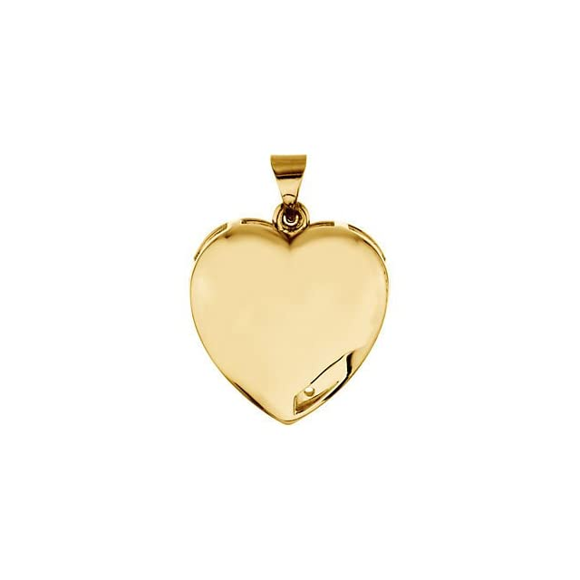 Personalized Jewelry Custom Engraved Mothers Heart Pendant Necklace Solid 14karat White Yellow Gold With 1 Birthstones Names (14K Yellow Gold) Jewelry