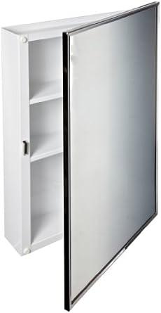 huge discount e8391 ad882 Bobrick 297 Steel Surface-Mounted Medicine Cabinet, Baked White Enamel  Finish, 3-3/4