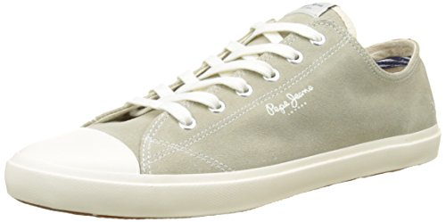 Pepe Jeans London Tokio Suede, Zapatillas para Hombre Gris (Pop Lt Grey)