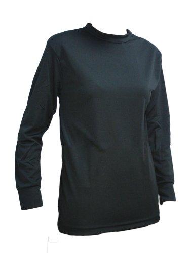 2007 Mens Thermal Shirt - Kenyon Women's Silk Weight Thermal Crew Top, Black, X-Large