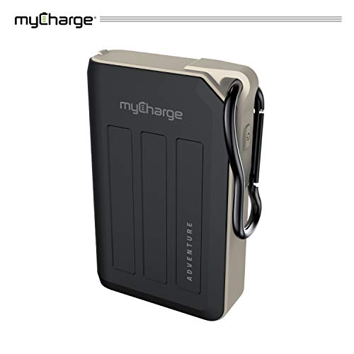 myCharge AdventureMax Portable Charger 10500mAh Rugged External Battery Pack with Built-in Carabiner Clip and Dual USB Ports for Smartphones, Tablets and USB Devices (iPhone, iPad, Samsung Galaxy) (Best Rugged Phone On The Market)