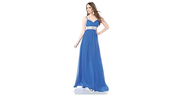 Amazon.com: Top-Sexy Blue Ruched Stretch Mesh Gown Long Prom Dresses Mermaid: Clothing