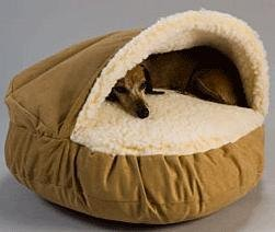 Large Snoozer? Camel Microsuede/Sherpa Cozy Cave Dog Bed, My Pet Supplies