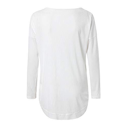 Casual Blouse Chemise Blanc T Chemise Sexy Bouton Manches Shirt Chemisier Chemises Tops Unie Chic Chemise Longues Lache Femme Bat Couleur Chic Wing Plain Tops Blouse Henley Col Boutonn 0q6xwxpd