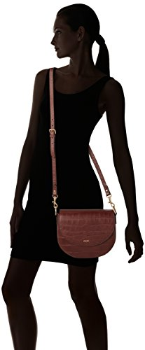 Joop Damen Croco Soft Rhea Shoulderbag Mvf Schultertasche, Braun (Brown), 5x22x25 cm