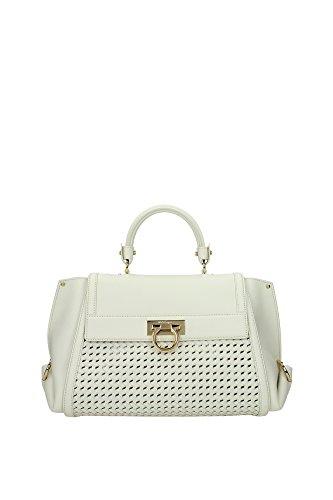 21F767010640115 Salvatore Ferragamo Hand Bags Women Leather White