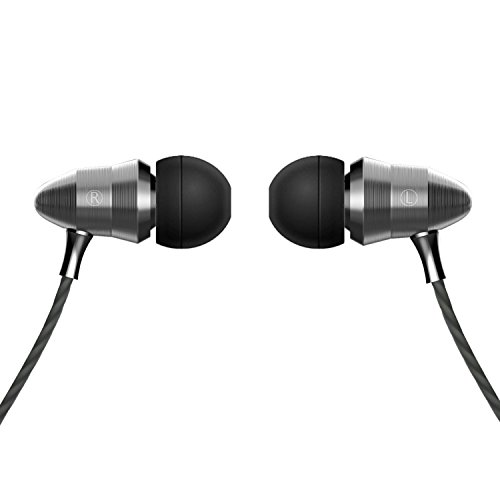 Earphones, In Ear Earbuds with Super Bass, HD Mic, Metal Noise Cancelling HIFI Wired Headphones for Android IPhone - Gray