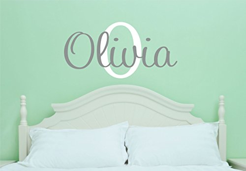 Girls Name Wall Decal - Name Wall Decal - Nursery Wall Decal