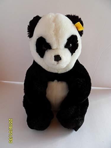 (Steiff Panda Bear Button Flag Stuffed Animal Made in Germany 2679)