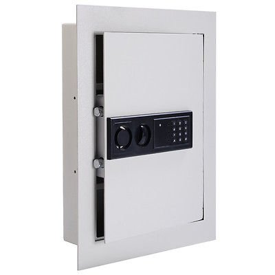 0.8CF Digital Flat Recessed Wall Safe Home Security Lock Gun Cash Box Electronic by Everything Jingle Bell