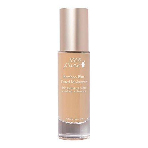 100% Pure Bamboo Blur Tinted Moisturizer, Golden Peach, 1.69 Ounce