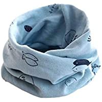AK.SSI Patrón de dibujos animados babero de punto de los niños bufanda cuello nuevo impreso algodón niños punto babero…