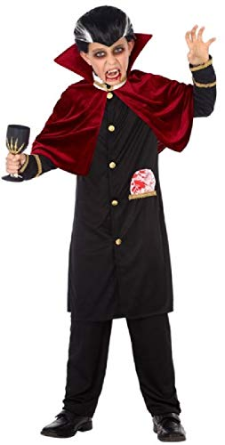 Boys Evil Scary Vampire Traditional Halloween Carnival Book Film Fancy Dress Costume Outfit 3-12 Years (3-4 Years)]()