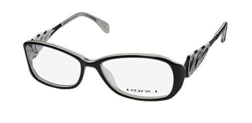 Koali 6920k Womens/Ladies Prescription Ready Classy Designer Full-rim Eyeglasses/Eyewear (53-15-135, Black / White) - Koali Eyewear