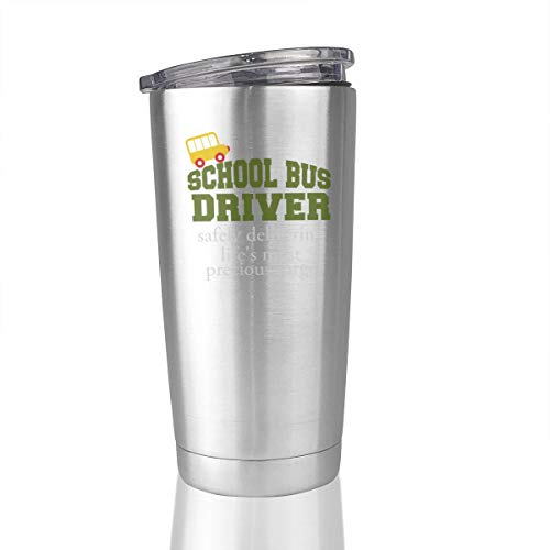 School Bus Driver Safe 20 Oz Stainless Steel Vacuum Insulated Tumbler Travel Mug Unique Gifts -