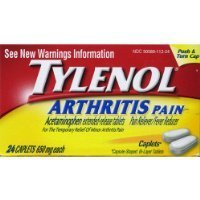 Arthritis Tylenol Extra Strength (Tylenol Arthritis Pain Caplets, Push & Turn Cap-24 count (Pack of 2))