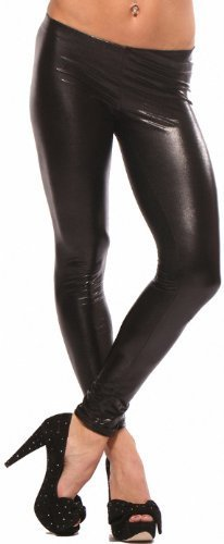 "LATEX METALLIC LEGGINGS WET LOOK PUNK SHINY FAUX LIQUID "" LEATHER "" CELEB PANTS"