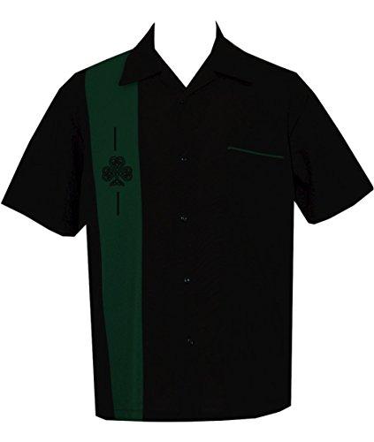 [Retro Irish Shamrock Pub T-Shirt ~ BeRetro Celtic Bowling, Darts, Billiards (L)] (Rockabilly Retro Shirt)