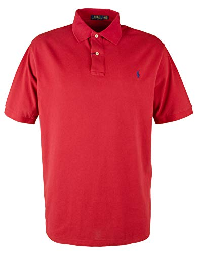 Men's Big & Tall Classic Fit Mesh Polo Shirt-R-3XB Red (Red Classic Mesh Polo)