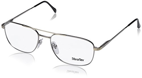 eglasses Styles Silver-Gold Frame w/Non-Rx 56 mm Diameter SF2152-131-56 ()