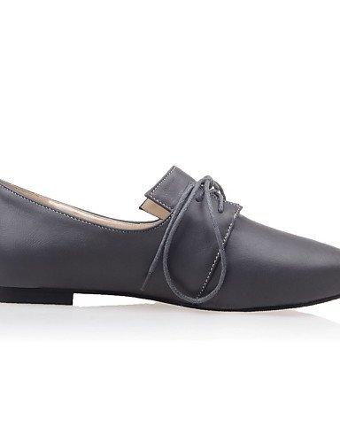 ZQ YYZ Zapatos de mujer-Tac¨®n Plano-Puntiagudos-Planos-Casual-Semicuero-Negro / Rojo / Gris , green-us4-4.5 / eu34 / uk2-2.5 / cn33 , green-us4-4.5 / eu34 / uk2-2.5 / cn33