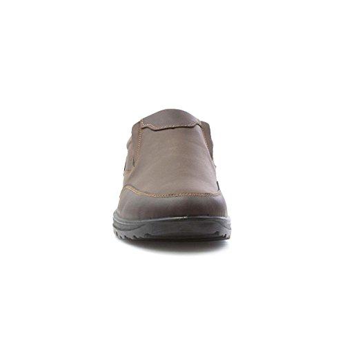 Hobos Mens Brown Slip On Casual Shoe Brown 4phRId