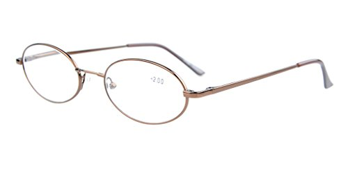 Eyekepper Titanium Memory Bridge Spring Hinges Oval Eyeglasses - Oval Eyeglasses