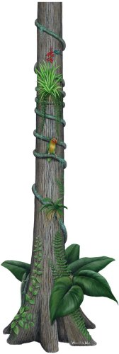 Walls of the Wild Rainforest Tree Decal Sticker Wall Mural