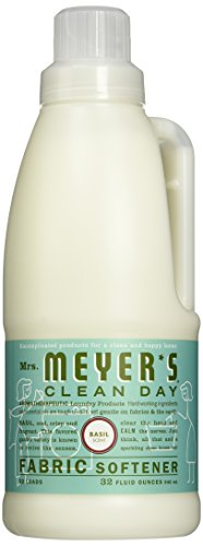 Mrs. Meyer's Clean Day Fabric Softener, Basil, 32 oz-2 pk