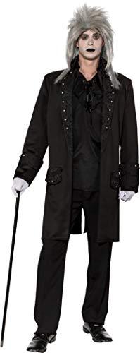 Mens Black Footman Steampunk VampireHorror Jacket Film Fancy Dress Costume Outfit Tailcoat (UK MED (EU46/48)) -
