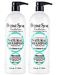Original Sprout Natural Shampoo. Organic Sulfate Free Shampoo for All Natural Hair Care. 33 oz. (2 pack)