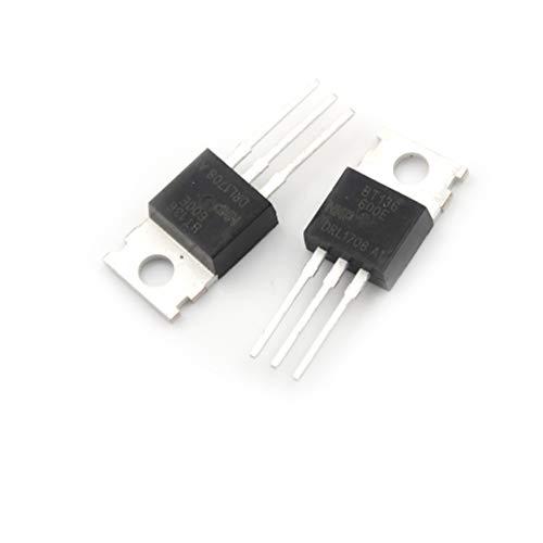 Price comparison product image Mercury_Group,  Connectors Terminals - 10 Pcs BT136-600E BT136-600 BT136 Triacs Thyristor TO-220 New Whose