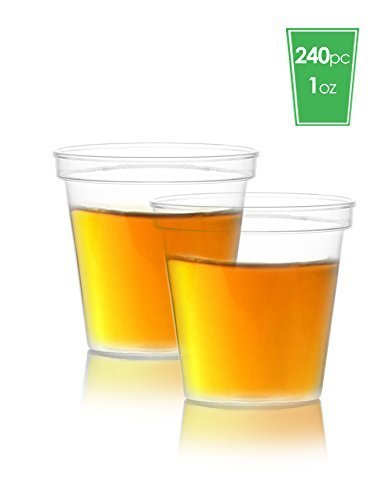 Elite Selection Pack Of 240 Party 1 Oz. Shot Glasses Disposable Plastic Cups ()