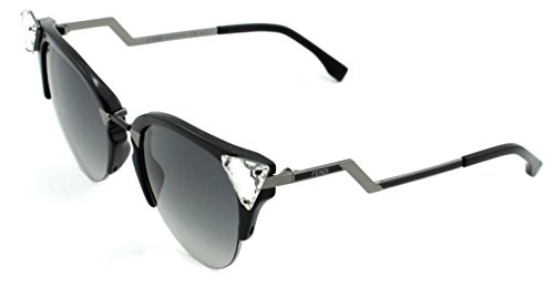 (Fendi FF 0041/S Black Ruthenium Frame 0GIK, Grey Lens)