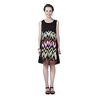 House of Napius Comfortable Multi coloured Maternity Dress, Extra Large