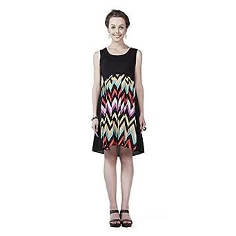 House of Napius Comfortable Multi coloured Maternity Dress, Medium