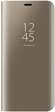Funda Libro Mirror Plating Flip Funda para LG K41S//K51S KERUN Funda de Cuero para LG K41S//K51S Case Plata