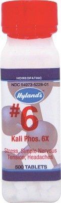 Kali Phos 6X (500Tablets) Tissue Salt (Cell Salt) Brand: Hylands (Standard Homeopathic)