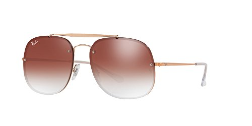 Ray-Ban Steel Unisex Non-Polarized Iridium Square Sunglasses, Copper, 58 - General The Ban Ray