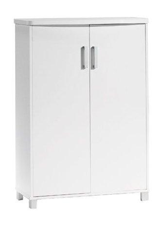 Elegante zapatero de dos puertas en color blanco for Zapatero dos puertas