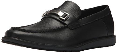 Calvin Klein Men's Whitaker Loafer, Black, 8 Medium US (Calvin Klein Black Suede Loafers)
