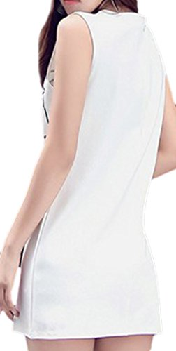erdbeerloft - Damen Ärmelloses Minikleid mit Print, 34-42, Weiß ...
