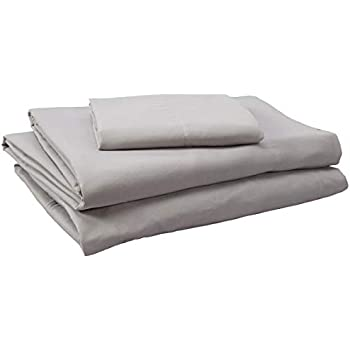 Comfort Spaces Coolmax Moisture Wicking 3 Piece Set Smart Bed Cooling Sheets for Night Sweats, Twin XL, Grey