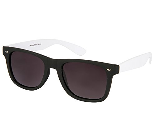 Cristiano Ronnie Black & White Polarised lenses Wayfarer Sunglasses