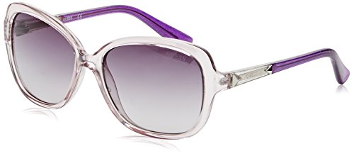 Guess GU7455 81B (Clear - Purple with Black Gradient - Frame Guess White Sunglasses