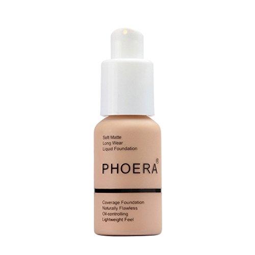 Foundation cream, Longay New 30ml PHOERA Matte Oil Control Concealer Liquid Foundation (C) – The Super Cheap