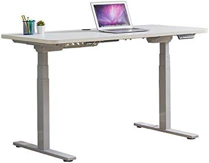 ダブルモータ電動昇降テーブル、家庭用の高さ調節可能なコンピュータの昇降テーブル、立ちコンピュータ表ワンキーリフティング、広々としたデスクトップ