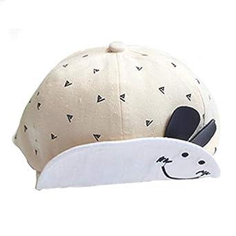 Cinnamou Sombreros y Gorras para bebés niña Niñas Niños Cara Sonriente Gorra de béisbol El Borde en Forma de Pato Lengua Divertido Conejito Gorro: ...