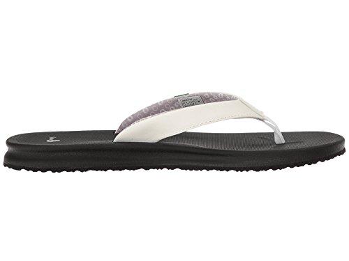Sanuk Dames Yoga Mat Wander Flip-flop Wit / Zwart