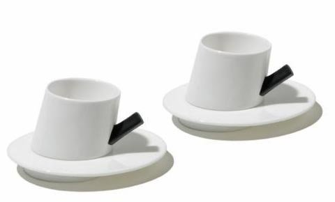 Presto Mocha Cup and Saucer by Alessi (Image #1)